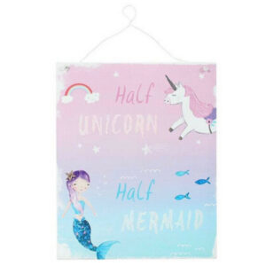 Half unicorn, half mermaid - metal sign