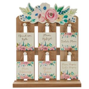 Mam - Floral Square Hanging Plaque