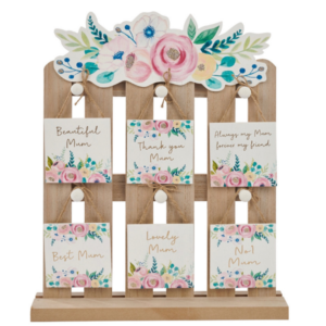 Mum - Floral Square Hanging Plaque