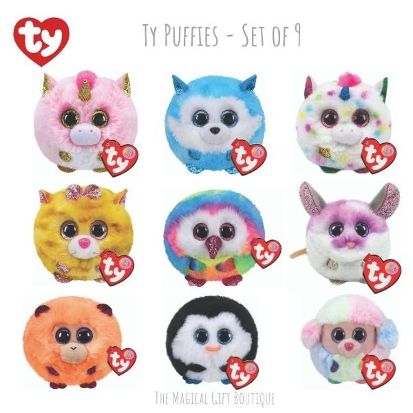 Ty Puffies - set of 9
