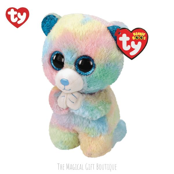 Hope Bear Beanie Boo - Multi Coloured Praying Bear