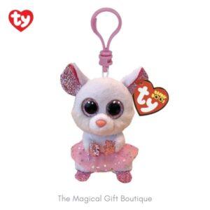 Nina Mouse Beanie Boo Clip