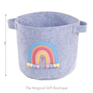 Rainbow Felt Storage Basket